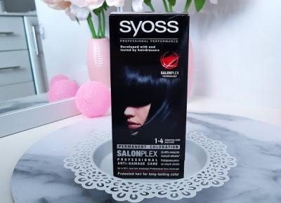 Syoss - SalonPlex, farba do włosów, Trwała | Granatowa Czerń