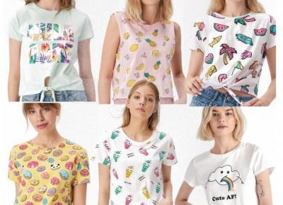 🌸 Modne koszulki na lato 💛 za jedyne 8zł! 🌸