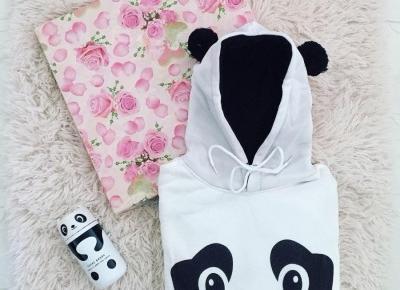 """Justyna 🎀 on Instagram: """"czy są tu jakieś miłośniczki pand? 🐼💖🐼💖🐼 genialny termos & bluza @gamiss_official 😍💖 #panda #pandas #panda🐼 #sweet #cute #love #loveit…"""""""