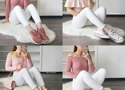 🌸 pink & white outfits 🌸
