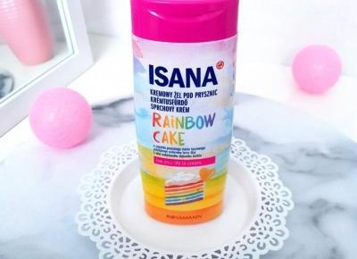 🌈 Rainbow cake 🌈 żel pod prysznic od Isana 🌈