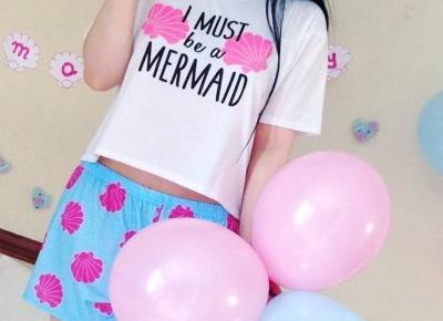 """🌸 Justyna 🌸 on Instagram: """"jedna ze słodszych piżamek jakie kiedykolwiek miałam i widziałam 🙈🌸💙 #pajamas #mermaid #boohoo #sleepwear #pastels #pastele #pastelove…"""""""