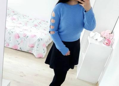 """Justyna 🎀 on Instagram: """"uwielbiam takie outfity 💙🖤💙 z utęsknieniem czekam na jesień i chłodne dni, w które będzie można już się tak ubierać na co dzień 😍💖💛 nie…"""""""
