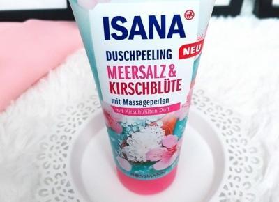 🌸 Sól morska i kwiat wiśni 🌸 peeling pod prysznic 🌸 Isana 🌸
