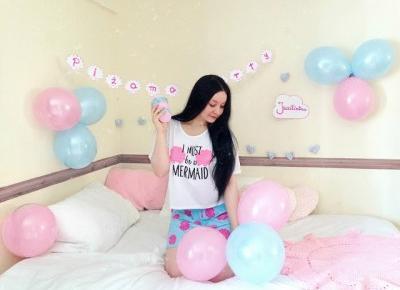 Jusstinkaa : Królowa DressCloud - stylizacja na piżama party - Boohoo