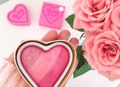 Jusstinkaa : Makeup Revolution - róż do policzków BLUSHING HEART