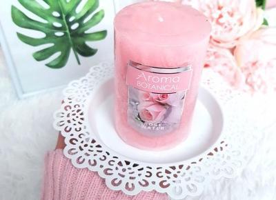 🌿 świeczka Rose Water 🌸 Pepco, Aroma Botanical | DressCloud.pl 🌸