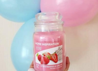 Świeca zapachowa Strawberries & Cream, Yankee Candle, Home Inspiration, Asda | Recenzja