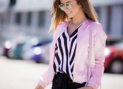 🌸 pastelowy bomber jacket & czerń 🌸