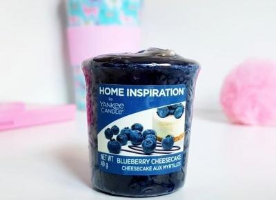 """🌸 Justyna 🌸 on Instagram: """"Sampler Blueberry Cheesecake od Yankee Candle, z serii Home Inspiration. 😍 Połączenie jagód z sernikiem? dla mnie absolutnie cudooo! 💖…"""""""