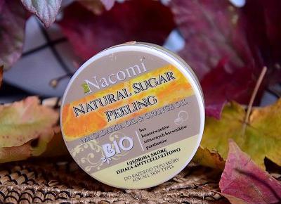 Nacomi, naturalny peeling cukrowy z olejkiem macadamia i olejkiem pomarańczowym | Uroda | zBLOGowani
