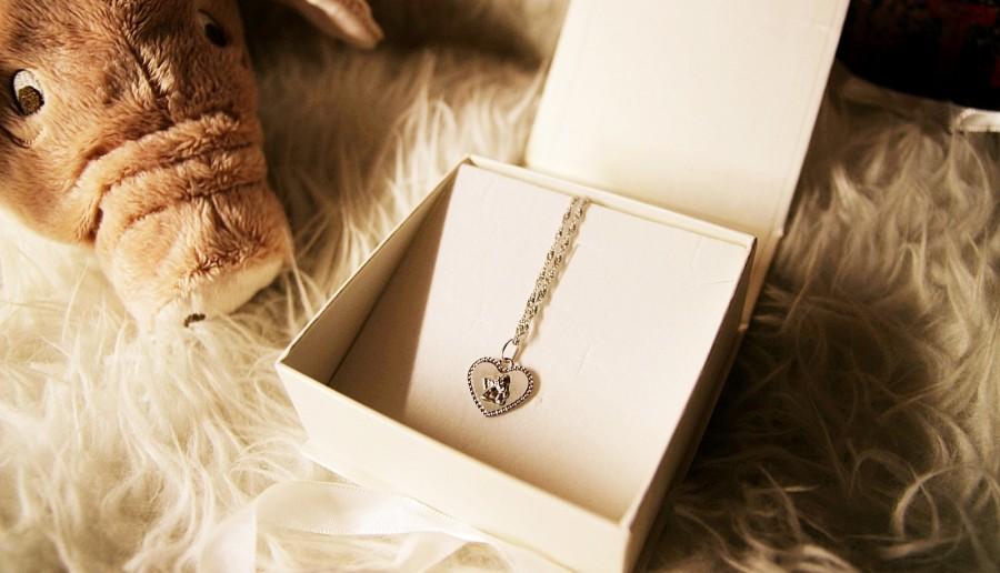 Srebrny naszyjnik z aniołkiem marki Briju