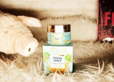 Krem nawilżajacy z bioaktywną wodą cytrusową - sok z pomarańczy + kwas hialuronowy z serii 'Fresh Juice' Bielenda