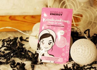Plasterki punktowe na wypryski z olejkiem z drzewa herbacianego 'Korean Energy' od marki Marion