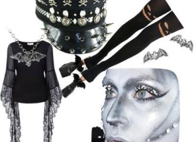Stylizacja halloween 2017 kobieta w gotyckim stylu.