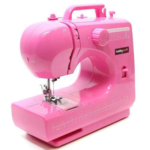 Maszyna do szycia w różowym kolorze. | Zalety Dojrzałego Wieku