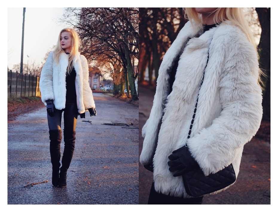WHITE FUR JACKET