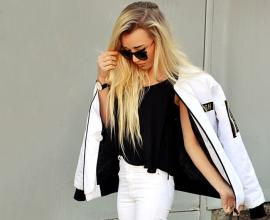 Lovofashion : Inspire by the moment: FLY HIGH WITHE BOMBER JACKET