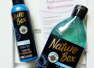 Testowanie z pa2ul: Szampon z tłoczonym na zimno olejem kokosowym & mleczny spray do włosów   Nature box