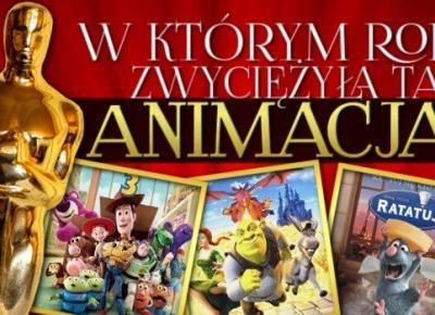 Czy uda Ci się dopasować, w którym roku zwyciężyły te animacje? Oscary