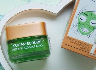 Peeling do twarzy oczyszczający, Loreal Sugar Scrubs  | Pirelka blog - Beauty Blog