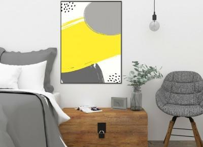 plakaty z żółtym motywem