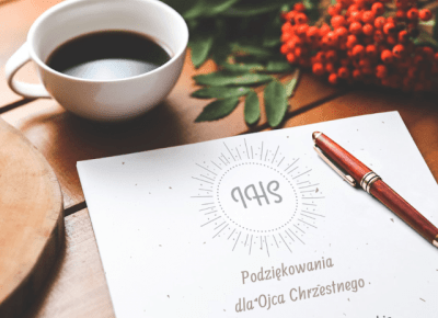 podziękowania dla chrzestnych do samodzielnego wydruku | plakatówka