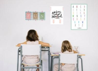 Alfabet do pokoju dziecka | plakatówka