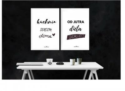Plakaty dom, kuchnia i dieta