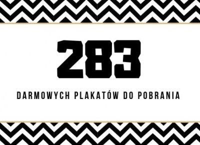 283 darmowych plakatów do samodzielnego wydruku | plakatówka