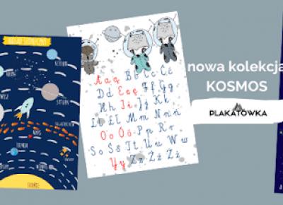 kosmiczne plakaty i akwarelowe leśne zwierzaki- zestawy plakatów edukacyjnych | plakatówka