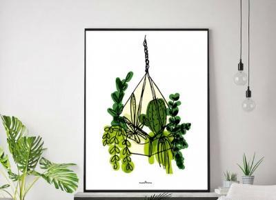 Jesienne plakaty botaniczne do druku  | plakatówka