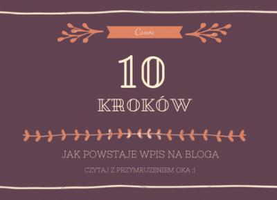 10 kroków jak powstaje wpis na bloga