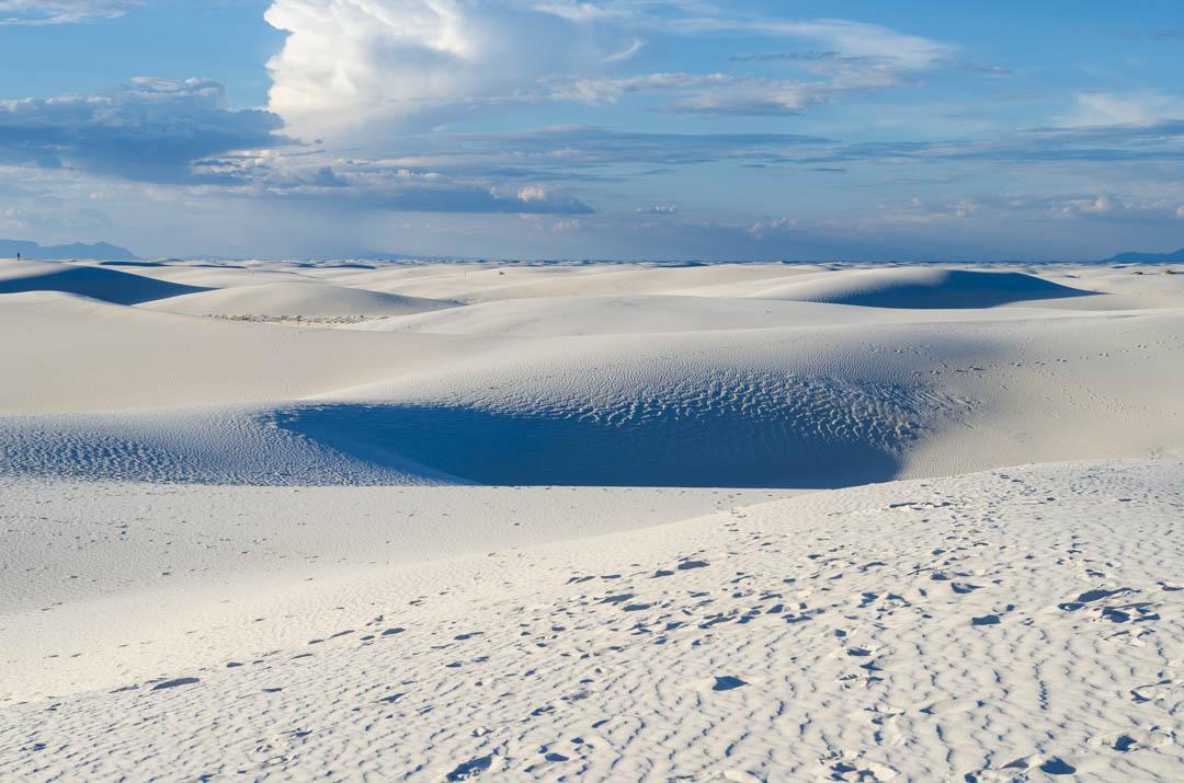Zimowa pustynia w USA - White Sands National Monument