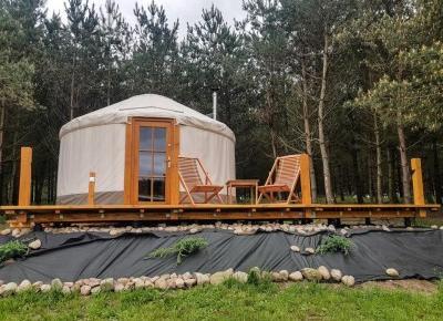 4rest Camp - nocleg w mongolskiej jurcie na Kaszubach