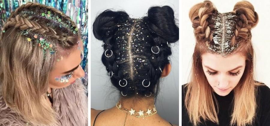 Brokatowe włosy - Glitter Inspiracje