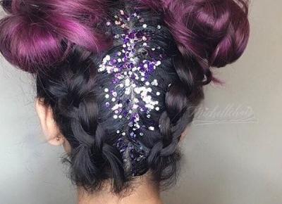 Brokatowe włosy Glitter - Inspiracje
