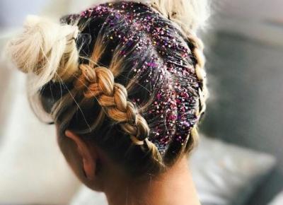 Brokatowe włosy - Inspiracje Glitter