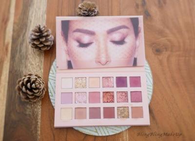 Bling Bling MakeUp: Pierwsze wrażenie oraz test palety New Nude Palette — Huda Beauty