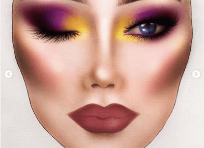 Bling Bling MakeUp: Makijaż z Face Chart'a