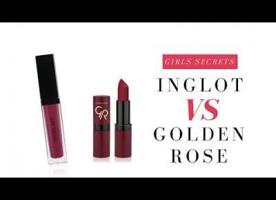 Test Pomadek Golden Rose vs Inglot Na Żywo