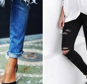 Porwane spodnie DIY   Milena