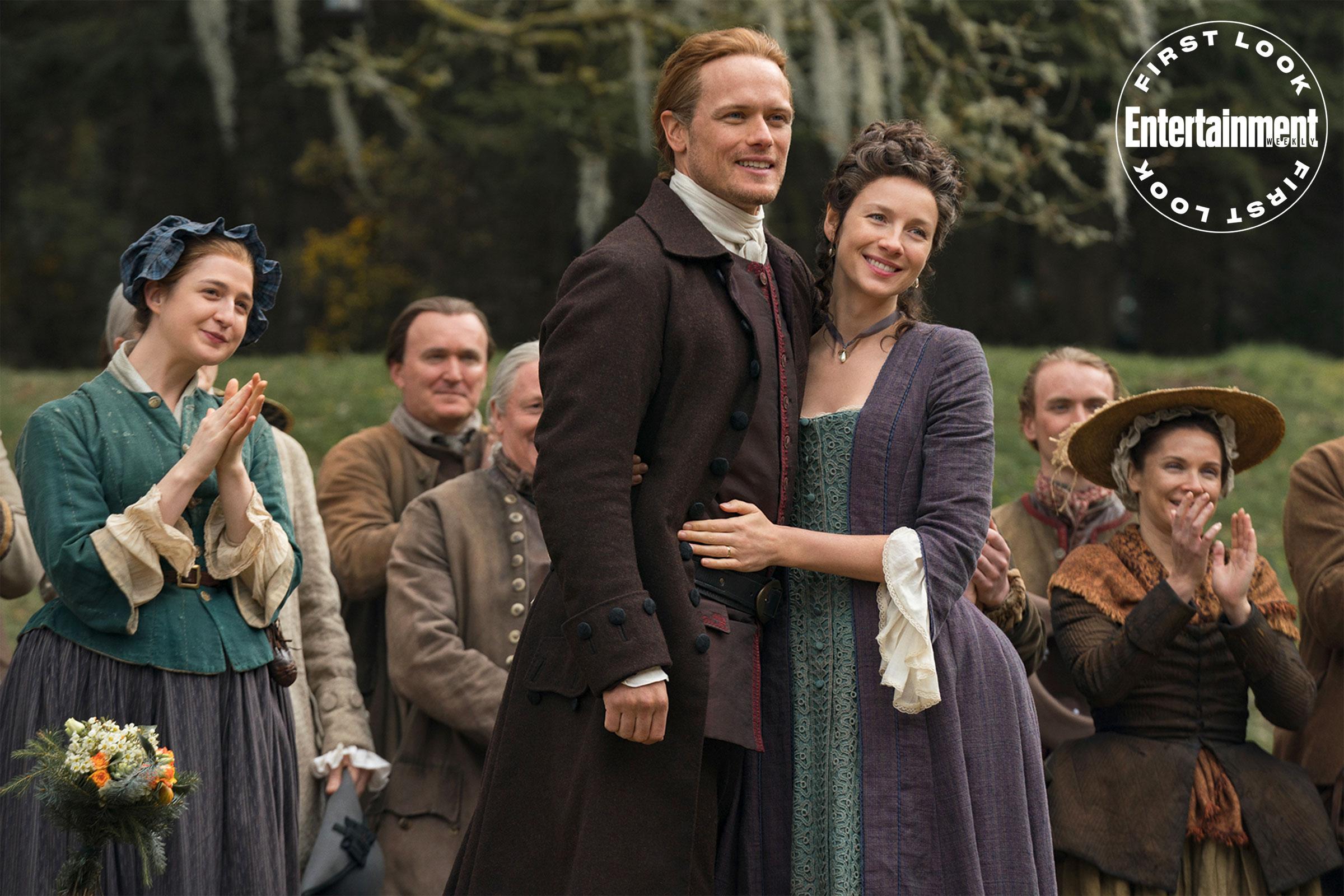 Outlander sezon 5 - zdjęcia. Wesele, rewolucja i nowy kocur u Fraserów