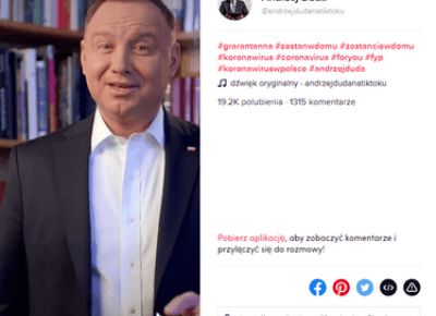 Prezydent Andrzej Duda założył TikToka i zaprasza na turniej esportowy Grarantanna Cup