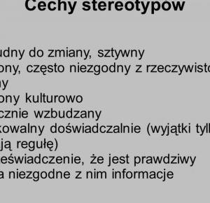 Stereotypy-choroba XXI wieku