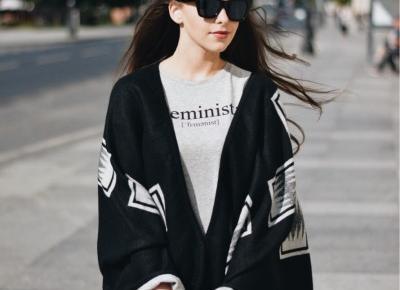 STREETSTYLE : Ponczo w roli głównej | RoksanaRy - Fashion & Beauty & Lifestyle