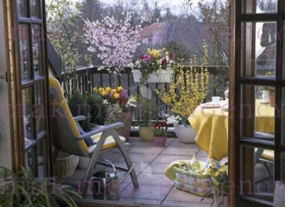 15 pomysłów na wiosenny balkon