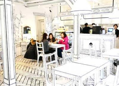 Niezwykła kreskówkowa kawiarnia w Korei Południowej