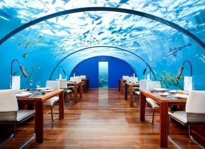 Niesamowita instagramowa restauracja 4 metry pod wodą