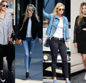 The Rose Style: Outfit to school by Gigi Hadid